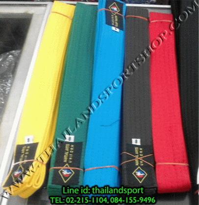 สายคาด เทควันโด อาร์ท art (สี ขาว, เหลือง, เขียว, ฟ้า, น้ำตาล, แดง) 5n pro ok