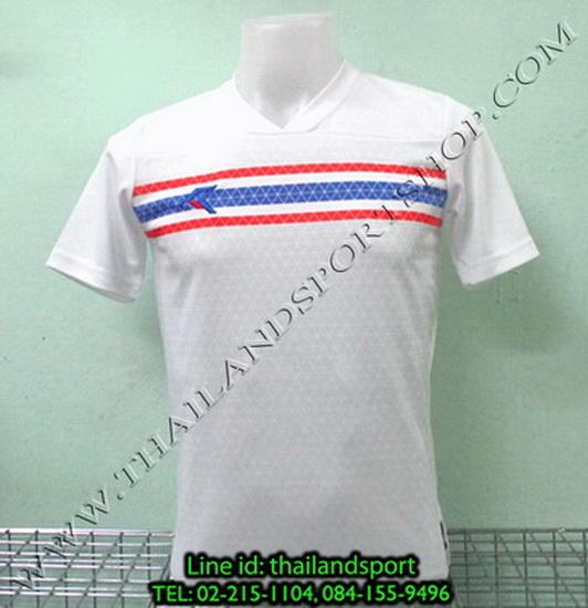 เสื้อกีฬา เรียล REAL รหัส RAX003 (สีขาว W) พิมพ์ลาย