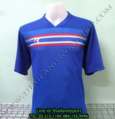 เสื้อกีฬา เรียล REAL รหัส RAX003 (สีน้ำเงิน B) พิมพ์ลาย