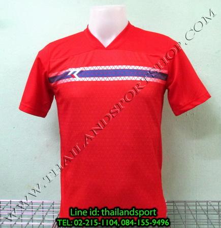 เสื้อกีฬา เรียล REAL รหัส RAX003 (สีแดง R) พิมพ์ลาย.