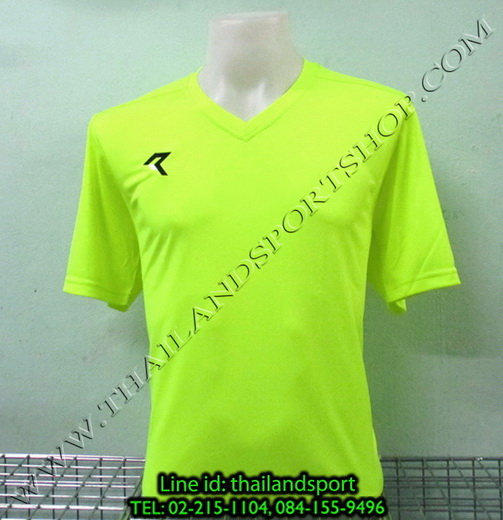 เสื้อกีฬา เรียล REAL รหัส RAX002 (สีเขียวสะท้อน G2)