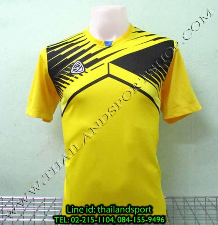 เสื้อกีฬา อีโก้ EGO SPORT รหัส EG-5105 (สีเหลือง Y) พิมพ์ลาย