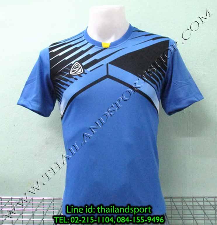 เสื้อกีฬา อีโก้ EGO SPORT รหัส EG-5105 (สีฟ้า L) พิมพ์ลาย