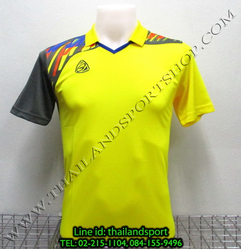 เสื้อกีฬา อีโก้ สปอร์ต EGO SPORT คอปก รุ่น EG5108 (สีเหลือง Y) พิมพ์ลาย คอปก