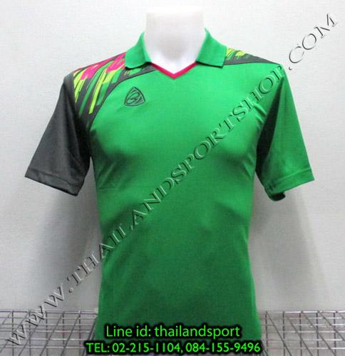 เสื้อกีฬา อีโก้ สปอร์ต EGO SPORT คอปก รุ่น EG5108 (สีเขียว G) พิมพ์ลาย คอปก