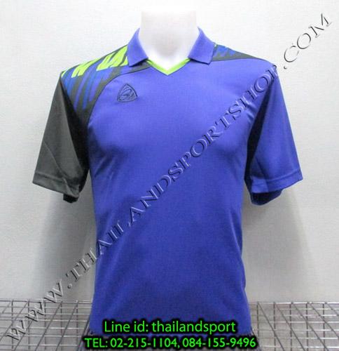 เสื้อกีฬา อีโก้ สปอร์ต EGO SPORT คอปก รุ่น EG5108 (สีม่วง V) พิมพ์ลาย คอปก