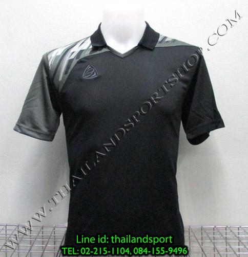 เสื้อกีฬา อีโก้ สปอร์ต EGO SPORT คอปก รุ่น EG5108 (สีดำ A) พิมพ์ลาย คอปก