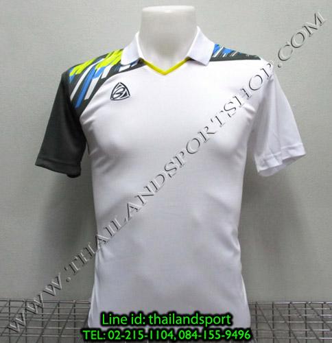 เสื้อกีฬา อีโก้ สปอร์ต EGO SPORT คอปก รุ่น EG5108 (สีขาว W) พิมพ์ลาย คอปก
