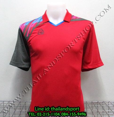 เสื้อกีฬา อีโก้ สปอร์ต EGO SPORT คอปก รุ่น EG5108 (สีแดง R) พิมพ์ลาย คอปก