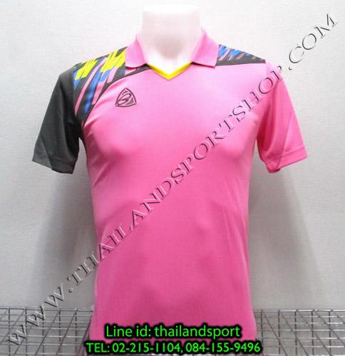 เสื้อกีฬา อีโก้ สปอร์ต EGO SPORT คอปก รุ่น EG5108 (สีชมพู P) พิมพ์ลาย คอปก