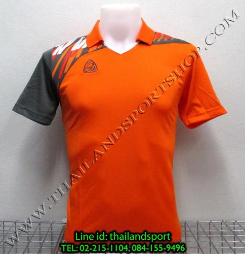 เสื้อกีฬา อีโก้ สปอร์ต EGO SPORT คอปก รุ่น EG5108 (สีส้ม O) พิมพ์ลาย คอปก