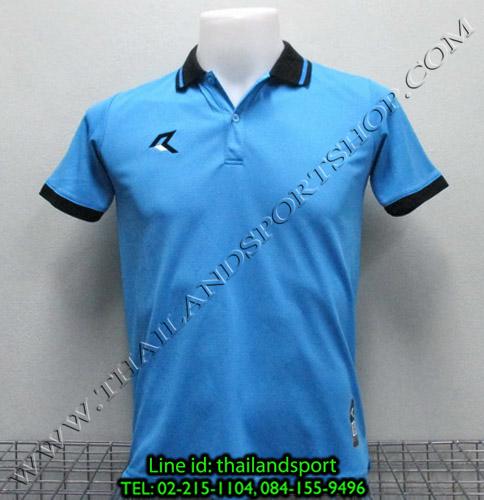 เสื้อโปโลกีฬา POLO เรียล REAL รุ่น RAC-007 (สีฟ้า L)