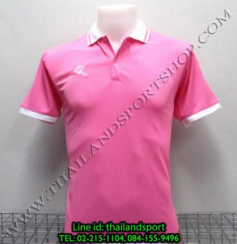 เสื้อโปโลกีฬา POLO เรียล REAL รุ่น RAC-007 (สีชมพู P)