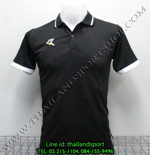 เสื้อโปโลกีฬา POLO เรียล REAL รุ่น RAC-007 (สีดำ A)