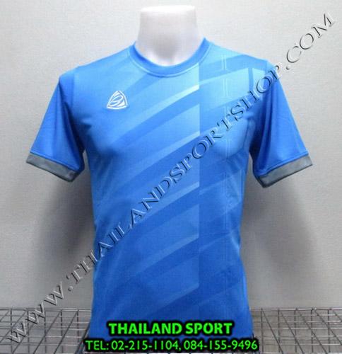 เสื้อ อีโก้ EGO SPORT รุ่น EG-5110 (สีฟ้า L) พิมพ์ลาย