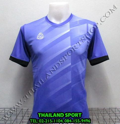 เสื้อ อีโก้ EGO SPORT รุ่น EG-5110 (สีม่วง V) พิมพ์ลาย