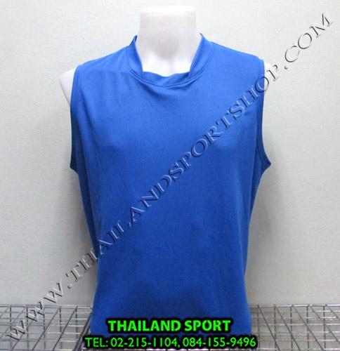 เสื้อกีฬา แขนกุด หมี คูล MHEE COOL รุ่น Pro (สีน้ำเงิน B)