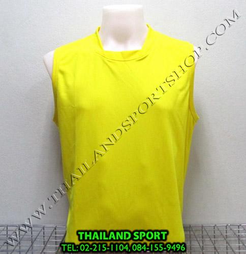 เสื้อกีฬา แขนกุด หมี คูล MHEE COOL รุ่น Pro (สีเหลือง Y)