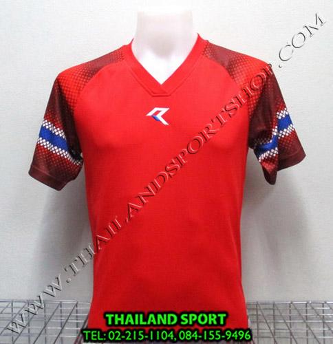 เสื้อกีฬา เรียล REAL รหัส RAX005 (สีแดง R)