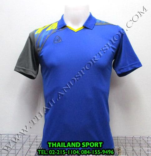 เสื้อกีฬา อีโก้ สปอร์ต EGO SPORT คอปก รุ่น EG5108 (สีน้ำเงิน B) พิมพ์ลาย คอปก