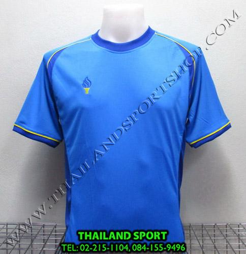 เสื้อกีฬา สปอร์ต เดย์ SPORT DAY รุ่น SA001 (สีฟ้า-น้ำเงิน LB BL) ตัดต่อ
