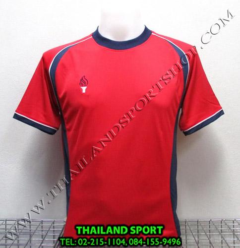 เสื้อกีฬา สปอร์ต เดย์ SPORT DAY รุ่น SA001 (สีแดง-กรม R) ตัดต่อ