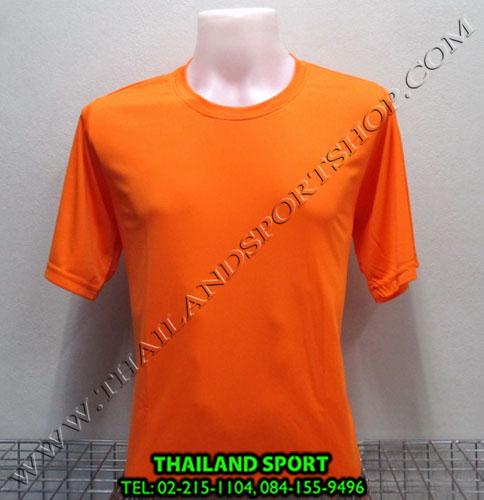 เสื้อกีฬาสี สีล้วน mhee cool รุ่น pc 05 (สีส้ม o)