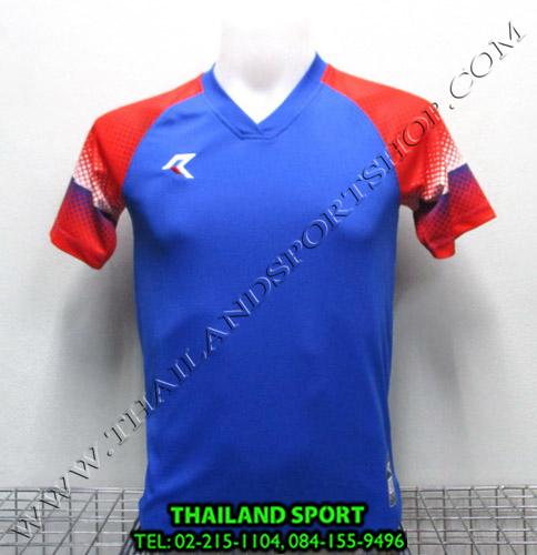 เสื้อกีฬา เรียล REAL รุ่น RAX-006 (สีน้ำเงิน B) พิมพ์ลาย