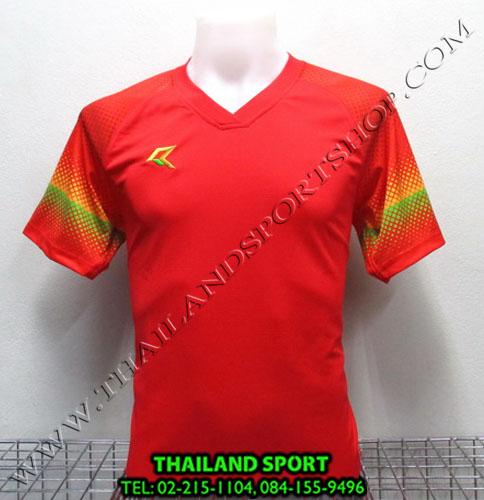 เสื้อกีฬา เรียล REAL รุ่น RAX-006 (สีนแดง R) พิมพ์ลาย