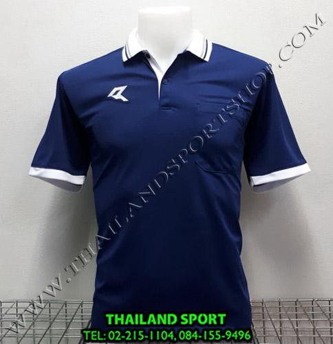เสื้อโปโลกีฬา POLO เรียล REAL รุ่น RAC-008 (สีกรม N) มีกระเป๋า