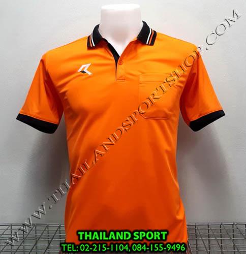 เสื้อโปโลกีฬา POLO เรียล REAL รุ่น RAC-008 (สีส้ม O) มีกระเป๋า