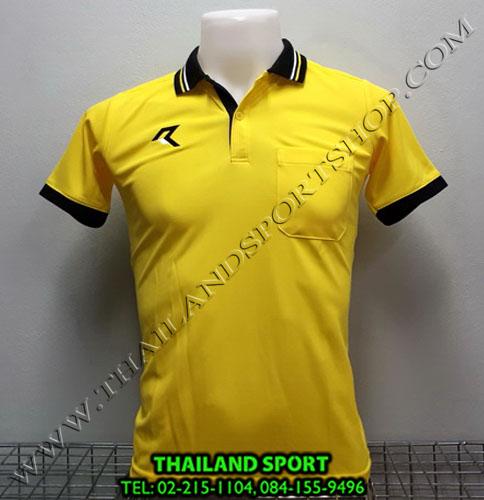 เสื้อโปโลกีฬา POLO เรียล REAL รุ่น RAC-008 (สีเหลือง Y) มีกระเป๋า