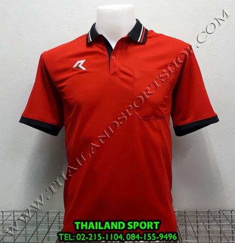 เสื้อโปโลกีฬา POLO เรียล REAL รุ่น RAC-008 (สีแดง RA) มีกระเป๋า