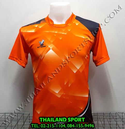 เสื้อกีฬา ฟลาย ฮอค FLY HAWK รุ่น A 918 (สีส้ม O)
