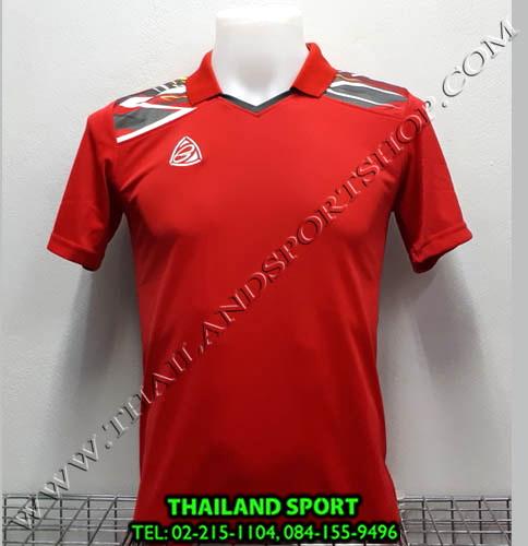 เสื้อกีฬา คอปก อีโก้ EGO SPORT รหัส EG-5114 (สีแดง R)