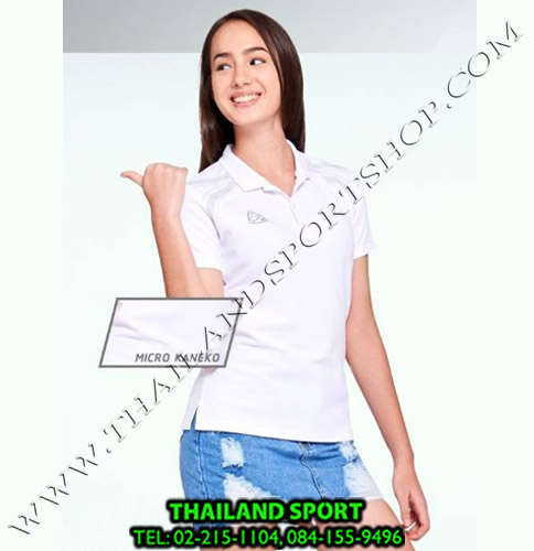 เสื้อ POLO อีโก้ EGO SPORT รุ่น EG 6132 (สีขาว) WOMEN
