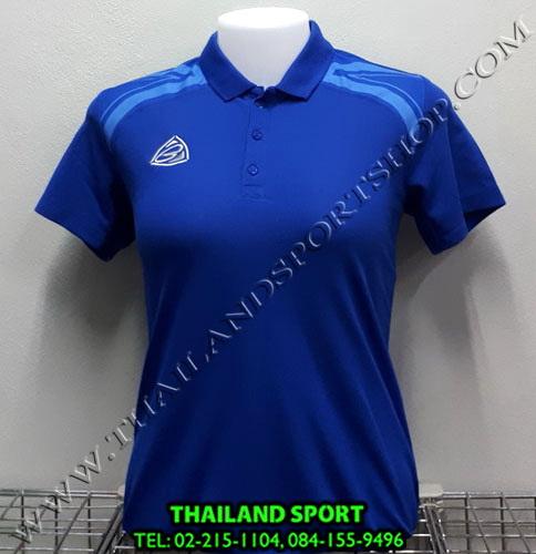 เสื้อ POLO อีโก้ EGO SPORT รุ่น EG 6132 (สีน้ำเงิน) WOMEN