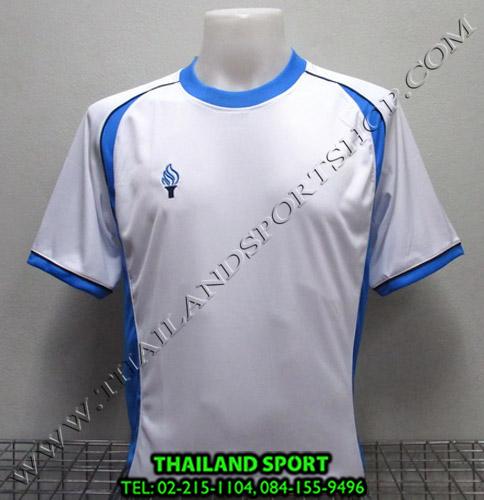 เสื้อกีฬา สปอร์ต เดย์ SPORT DAY รุ่น SA001 (สีขาว-ฟ้า W LB) ตัดต่อ