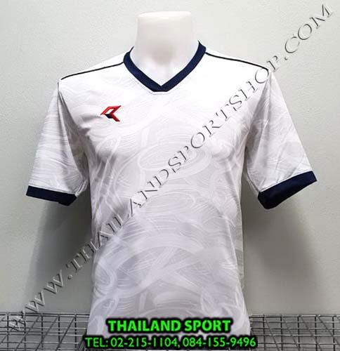 เสื้อกีฬา เรียล REAL รุ่น RAX-008 (สีขาว/กรม) พิมพ์ลาย