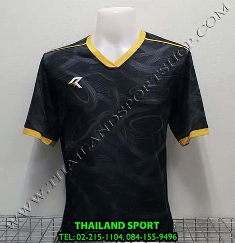 เสื้อกีฬา เรียล REAL รุ่น RAX-008 (สีดำ/ทอง) พิมพ์ลาย