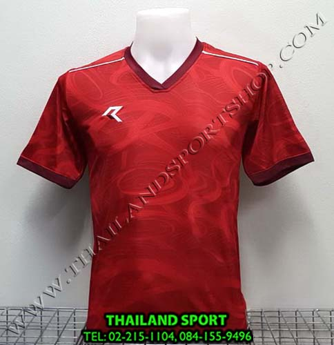 เสื้อกีฬา เรียล REAL รุ่น RAX-008 (สีแดง/เลือดหมู) พิมพ์ลาย