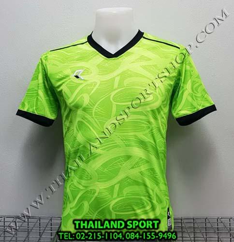 เสื้อกีฬา เรียล REAL รุ่น RAX-008 (สีเขียว/ดำ) พิมพ์ลาย