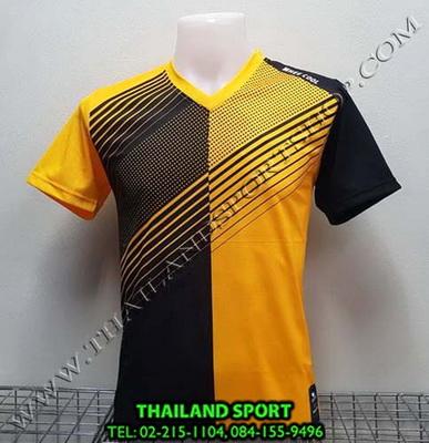 เสื้อกีฬา คอวี พิมพ์ลาย หมี คูล MHEE COOL รุ่น MV2 (สีเหลือง)