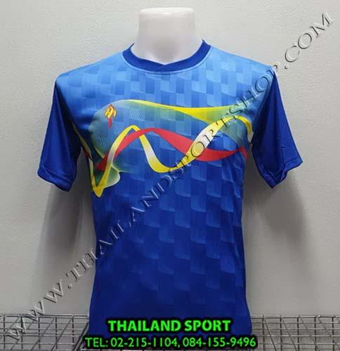 เสื้อกีฬา สปอร์ต เดย์ SPORT DAY รุ่น SA002 (สีน้ำเงิน BL ) พิมพ์ลาย