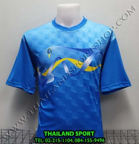 เสื้อกีฬา สปอร์ต เดย์ SPORT DAY รุ่น SA002 (สีฟ้า LฺB BL ) พิมพ์ลาย