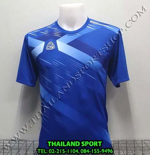 เสื้อ อีโก้ EGO SPORT รุ่น EG-5116 (สีน้ำเงิน) พิมพ์ลาย
