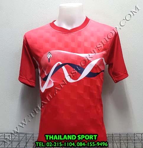 เสื้อกีฬา สปอร์ต เดย์ SPORT DAY รุ่น SA002 (สีแดง R ) พิมพ์ลาย