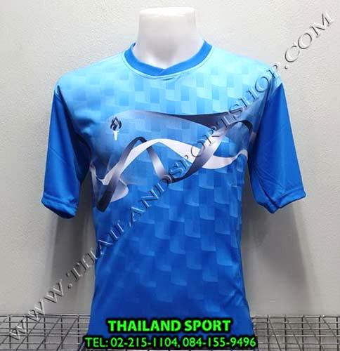 เสื้อกีฬา สปอร์ต เดย์ SPORT DAY รุ่น SA002 (สีฟ้า-กรม LฺB NB ) พิมพ์ลาย