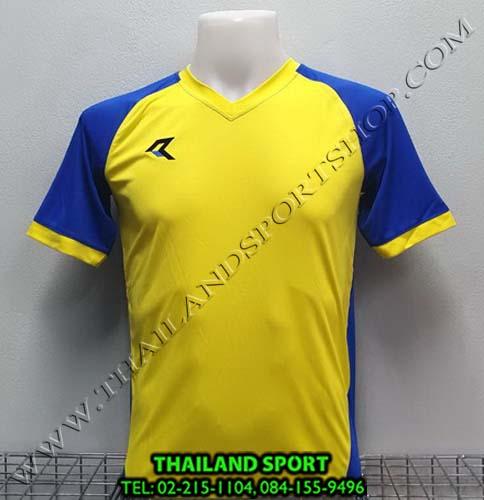 เสื้อกีฬา เรียล REAL รุ่น RAX-010 (สีเหลือง/น้ำเงิน YB) ตัดต่อ