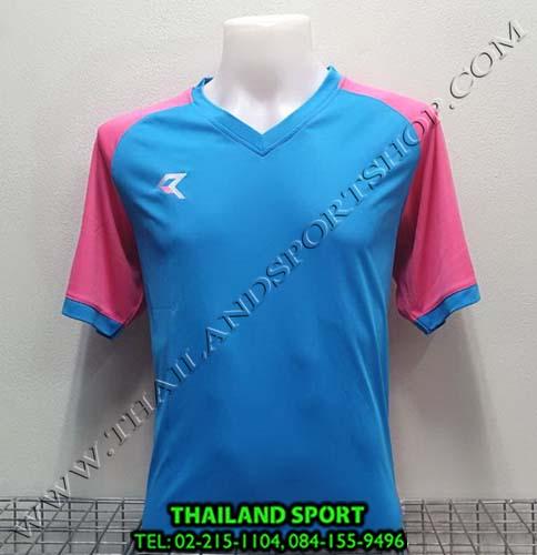 เสื้อกีฬา เรียล REAL รุ่น RAX-010 (สีฟ้า/ชมพู LP) ตัดต่อ